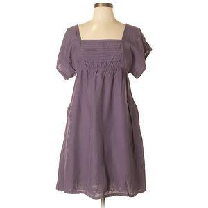 Maeve   Anthropologie Purple Ruffle Mid Dress